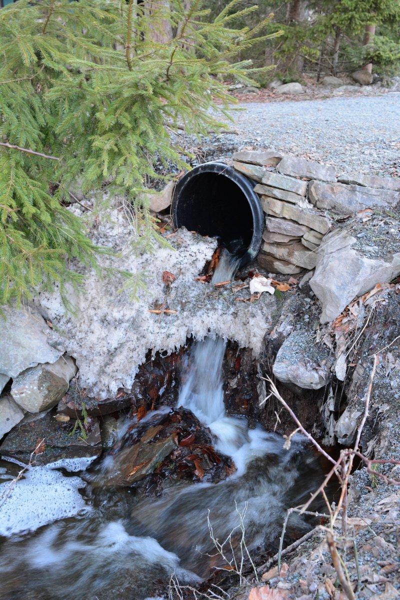Water running through a ditch